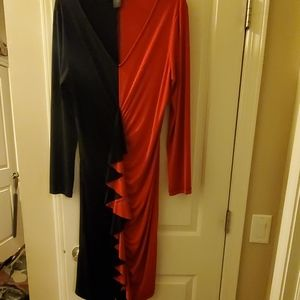 Pre-owned Ashley Stewart red and black dress
